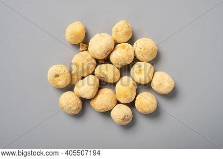 Top View Herb Fabanxia Or Rhizoma Pinelliae Preparatum Or Processed Pinellia Tuber