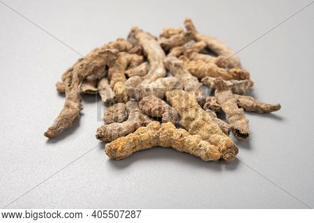 Side View Chinese Medicine Jiangcan Or Bombyx Batryticatus Or Stiff Silkworm