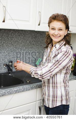 Washing A Tomato