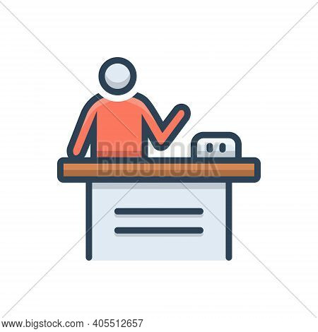 Color Illustration Icon For Product Demo Demonstration Presentation