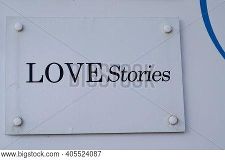 Bordeaux , Aquitaine  France - 01 24 2021 : Love Stories Lingerie Logo Shop Sign Dutch Brand Group D