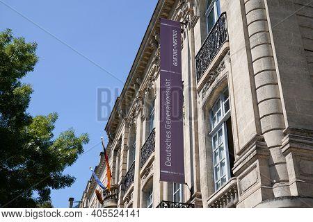 Bordeaux , Aquitaine  France - 01 24 2021 : Deutsches Generalkonsulat Goethe Institut German Consula