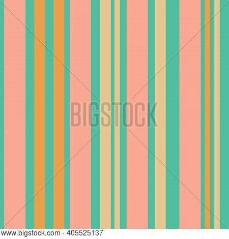 Bright Colorful Seamless Stripes Pattern. Vertical Stripes. Simple Vector Texture With Thin And Thic