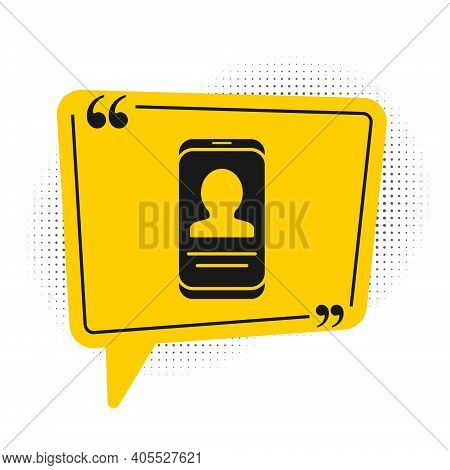 Black Mobile With Resume Icon Isolated On White Background. Cv Application. Searching Professional S