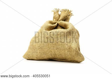 Cloth Sack Bag Isolated On White