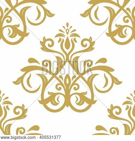 Orient Classic Pattern. Seamless Abstract Background With Golden Vintage Elements. Orient Background