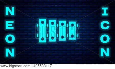 Glowing Neon Xylophone - Musical Instrument With Thirteen Wooden Bars And Two Percussion Mallets Ico