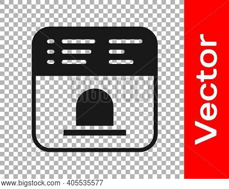 Black Ticket Office To Buy Tickets For Train Or Plane Icon Isolated On Transparent Background. Buyin