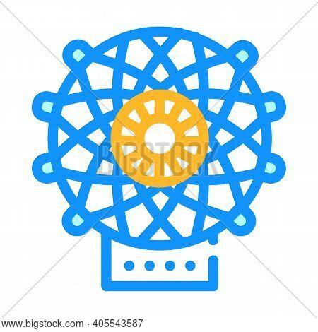 Carbon Fiber Weaving Loom Color Icon Vector Illustration