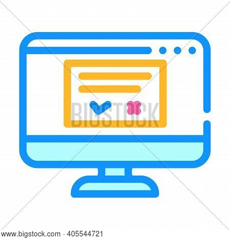 Accept Or Reject Request Of Operating System Color Icon Vector Illustration