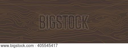Brown Red Wooden Surface With Fibre And Grain. Natural Lines Wood Texture, Seamless Tree Striped Bac