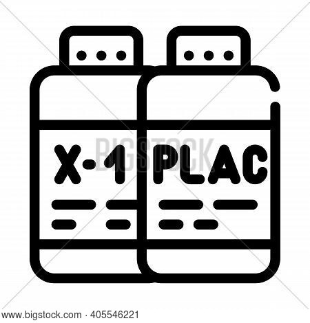 Test Samples Of Vaccine And Placebo Line Icon Vector Illustration