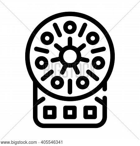 Centrifuge Laboratory Equipment Line Icon Vector Illustration