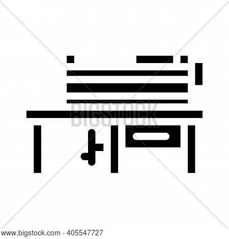 Grinding Machine Glyph Icon Vector Illustration Flat
