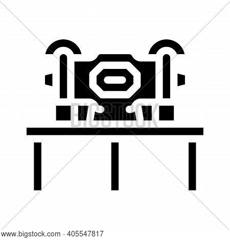 Grinding Industry Machine Glyph Icon Vector Illustration