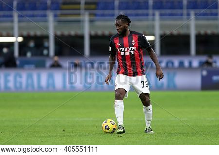Milano, Italy. 26th January 2021 . Franck Kessie Of Ac Milan  During The Coppa Italia Match Between