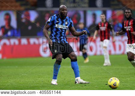 Milano, Italy. 26th January 2021 . Romelu Lukaku Of Fc Internazionale  During The Coppa Italia Match