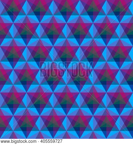 Triangular Geometric Seamless Pattern Or Background. Vector Illustration