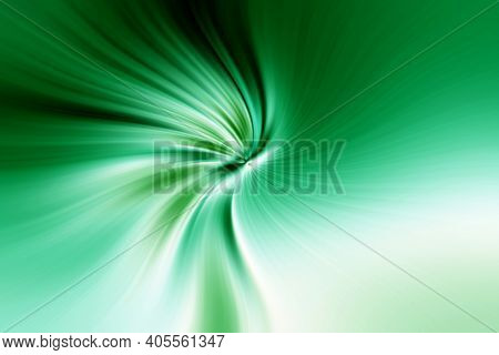 Abstract Bright Green And White Twisted Background. Glowing Green And White Swirl Textures For Banne