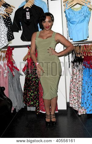 LOS ANGELES - AUG 3:  Ashleeta Bouchon at the Pinup Girl Boutique opening at Pinup Girl Boutique on August 3, 2012 in Burbank, CA.