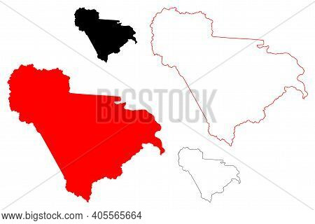 Raleigh County, State Of West Virginia (u.s. County, United States Of America, Usa, U.s., Us) Map Ve