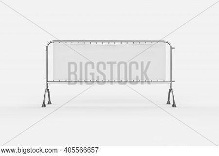 Bike Rack. Empty Place For A Parking Of Bicycles. Campus Of University. Isolated White Background. 3