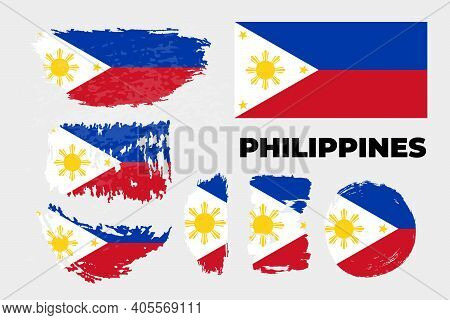 Flag Of The Philippines, Republic Of The Philippines.