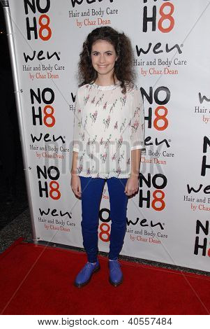 LOS ANGELES - DEC 12:  Katlin Mastandrea arrives to the NOH8 4th Anniversary Party at Avalon on December 12, 2012 in Los Angeles, CA
