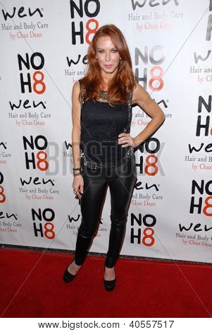 LOS ANGELES - DEC 12:  Challen Cates arrives to the NOH8 4th Anniversary Party at Avalon on December 12, 2012 in Los Angeles, CA