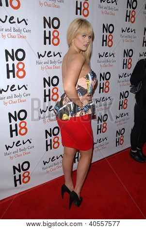 LOS ANGELES - DEC 12:  Ashlee Keating arrives to the NOH8 4th Anniversary Party at Avalon on December 12, 2012 in Los Angeles, CA