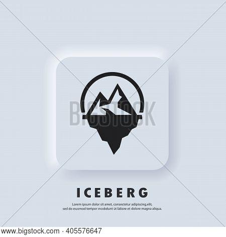 Iceberg Geometric Logo. Iceberg Icon. Vector. Ui Icon. Snow Mountain In The Ocean. Abstract Mountain
