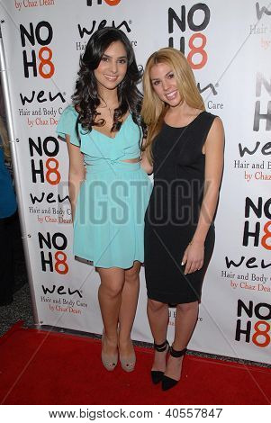 LOS ANGELES - DEC 12:  Camila Banus, Kate Mansi arrive to the NOH8 4th Anniversary Party at Avalon on December 12, 2012 in Los Angeles, CA
