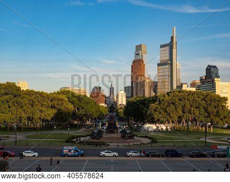 Image Of The Skyline Of Philadelphia.