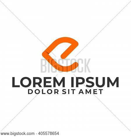 Initial Letter Lp Or E Logo Template With Modern Bold Line Art Illustration In Flat Design Monogram