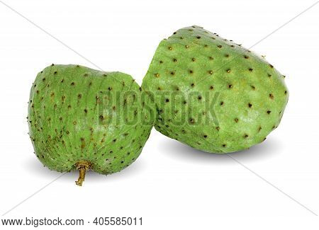 Annona Muricata Isolated On A White Background