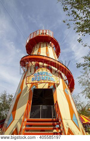 Margate, Kent, Uk - August 28, 2017. Helter Skelter At The Iconic Dreamland At Margate, Featuring He