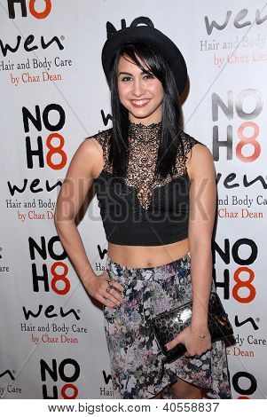 LOS ANGELES - DEC 12:  Lauren Gottlieb arrives to the NOH8 4th Anniversary Party at Avalon on December 12, 2012 in Los Angeles, CA