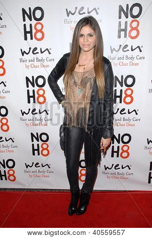 LOS ANGELES - DEC 12:  Giordana Otero arrives to the NOH8 4th Anniversary Party at Avalon on December 12, 2012 in Los Angeles, CA