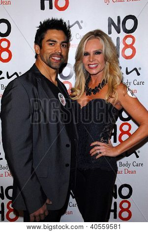 LOS ANGELES - DEC 12:  Eddie Judge, Tamra Barney arrive to the NOH8 4th Anniversary Party at Avalon on December 12, 2012 in Los Angeles, CA