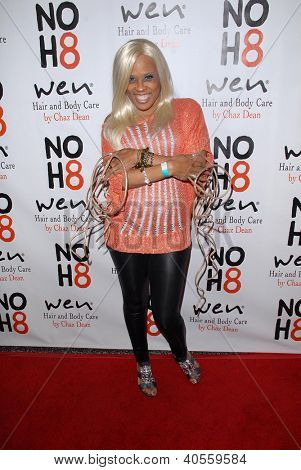 LOS ANGELES - DEC 12:  The Dutchess arrives to the NOH8 4th Anniversary Party at Avalon on December 12, 2012 in Los Angeles, CA