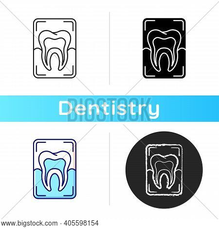 Dental X-ray Icon. Dental Care.dentistry Radiography. Instruments For Dental Treatment. Dental Resea