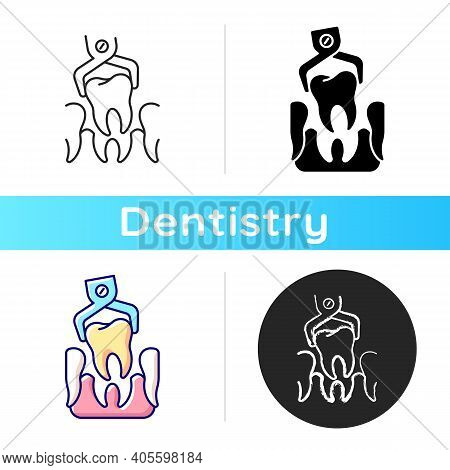 Dental Surgery Icon. Dentistry Surgery Instruments. Instruments For Dental Treatment. Toothache Trea