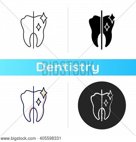 Cosmetic Dentistry Icon. Professional Dental Care. Dental Surgery. Dental Equipment. Snow White Smil