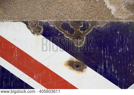 Corner Of Rusty Vintage Union Jack Sign