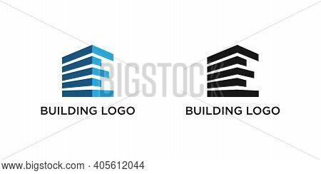 Building Logo Design Vector Mono Line Vector Design Template