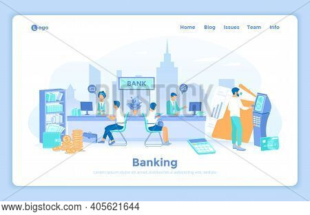 Banking Financial Services. Money Exchange, Transfer, Payment, Accounts Operation. Bank Office Inter