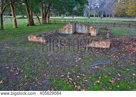 Ruins In Jamestown Colony In The Fall