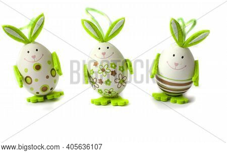 Easter Eggs. Happy Easter Card. Easter Eggs. Easter. Easter Background. Isolate. Copy Space