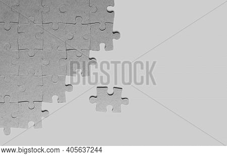 Background From Cardboard Jigsaw Puzzles With Place For Text The Texture Of Paper Or Cardboard Puzzl