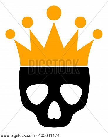 Dead King Icon With Flat Style On A White Background. Isolated Vector Dead King Icon Illustrations,
